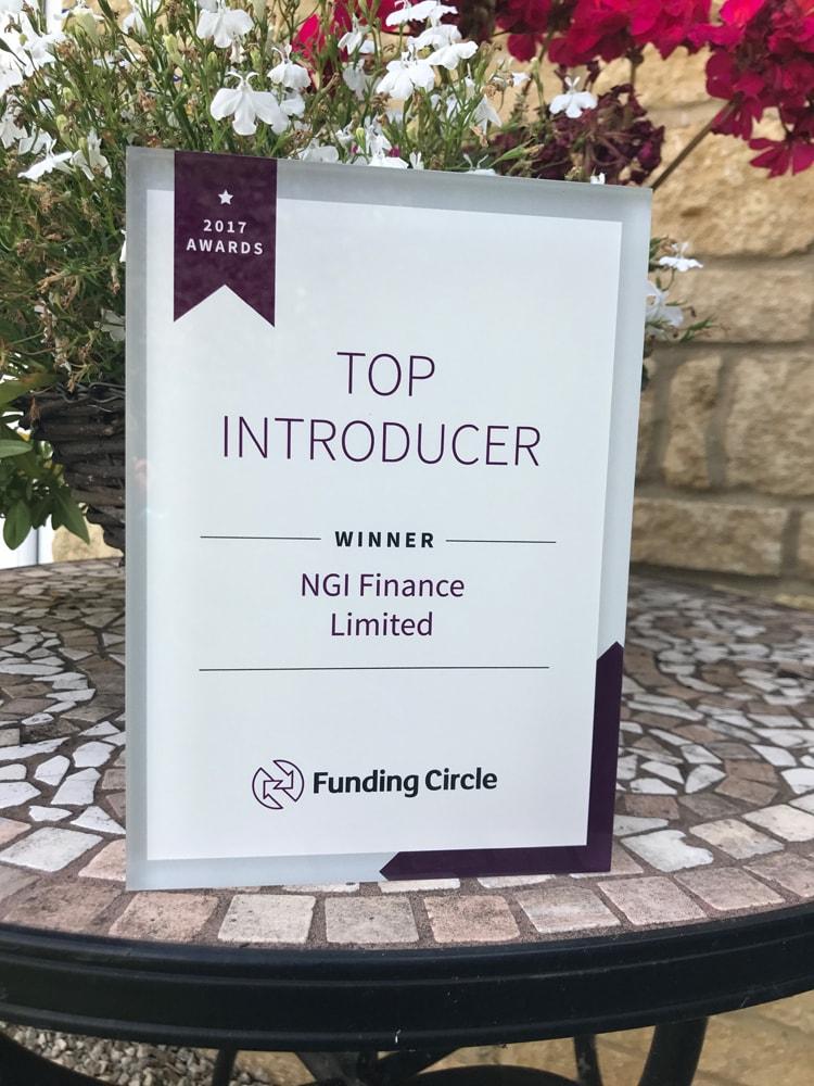 Top Introducer Award | NGI Finance | Award Winning Asset Finance in Oxfordshire