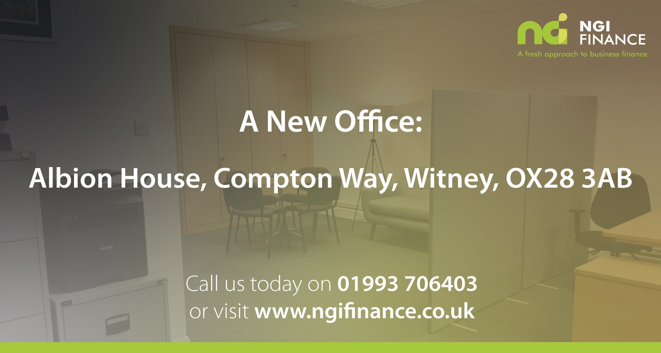 New Office Location | NGI Finance | Fresh Approach to Business Finance | Low Rate Business Loan | Help with Business Finance